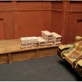 4808 German tiger I plaster shell crates for 1/48 diorama. 8 pieces.