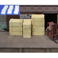 H043 wood crates 12pcs
