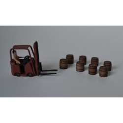 H049 Medium wood barrels 15pcs