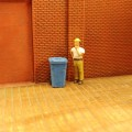 H065 Recycle Trash Bin On Weels 9pcs HO Scale