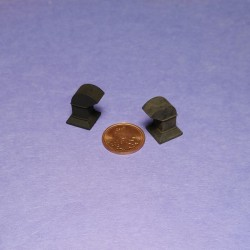 O028 Miniature Roof Vent 6 pcs O Scale