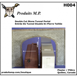 H004 Double cut stone tunnel portal