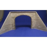 H005 Double cut stone tunnel portal with wing walls